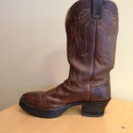 Boot with ¾ in. elevation heel and toe