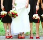 Custom dyed shoes for the entire wedding party
